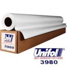 Unifol 3980 Seri Arkası Beyaz Solvent Baskı Folyosu