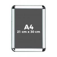 A4 Çıtçıtlı Alüminyum Rondo Çerçeve 21*30cm
