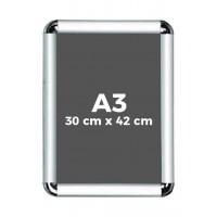 A3 Çıtçıtlı Alüminyum Rondo Çerçeve 30*42cm